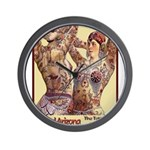 Maud Arizona Vintage Tattooed Lady Print Wall Cloc
