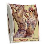 Maud Arizona Vintage Tattooed Lady Print Burlap Th