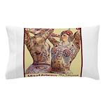 Maud Arizona Vintage Tattooed Lady Print Pillow Ca