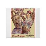Maud Arizona Vintage Tattooed Lady Print Throw Bla