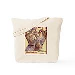 Maud Arizona Vintage Tattooed Lady Print Tote Bag