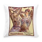 Maud Arizona Vintage Tattooed Lady Everyday Pillow