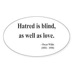 Oscar Wilde 12 Oval Decal