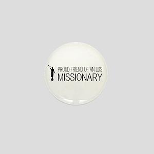LDS: Proud Missionary Friend (White) Mini Button