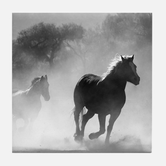 Wild Horses Tile Coaster
