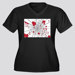 halloween shattered glass Plus Size T-Shirt