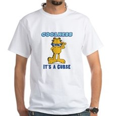 Cool Garfield White T-Shirt
