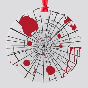 halloween shattered glass Round Ornament