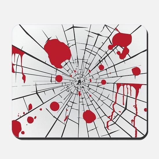 halloween shattered glass Mousepad