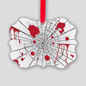 halloween shattered glass Picture Ornament
