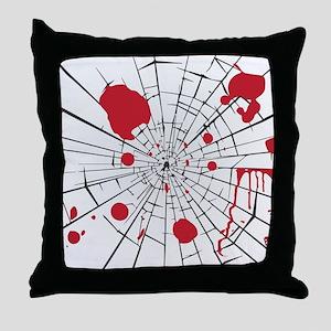 halloween shattered glass Throw Pillow