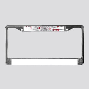 halloween shattered glass License Plate Frame
