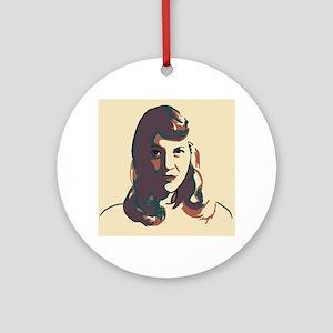 Sylvia Plath Round Ornament