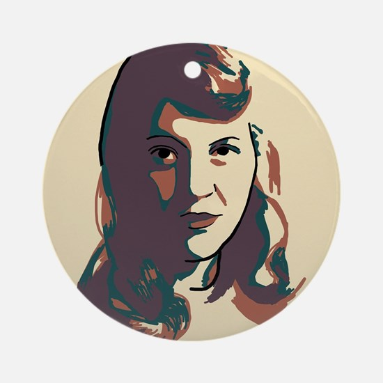 Sylvia Plath Round Ornament