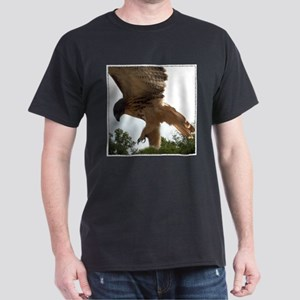 Ostara, Red Tailed Hawk Landi Ash Grey T-Shirt
