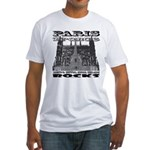 Paris France Rocks Fitted T-Shirt