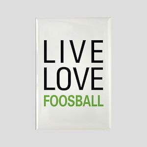 Live Love Foosball Rectangle Magnet