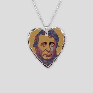 Henry David Thoreau Necklace Heart Charm