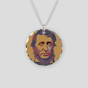 Henry David Thoreau Necklace Circle Charm