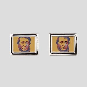 Henry David Thoreau Rectangular Cufflinks