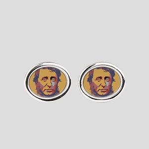 Henry David Thoreau Oval Cufflinks