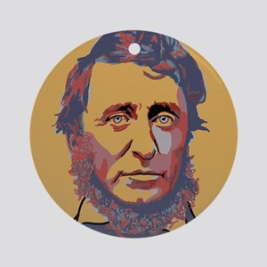 Henry David Thoreau Round Ornament
