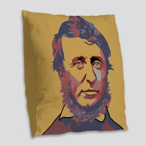 Henry David Thoreau Burlap Throw Pillow