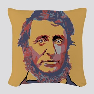 Henry David Thoreau Woven Throw Pillow
