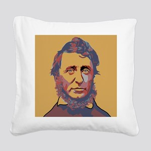 Henry David Thoreau Square Canvas Pillow