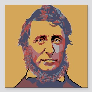 "Henry David Thoreau Square Car Magnet 3"" x 3"""