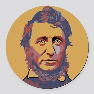 Henry David Thoreau Round Car Magnet
