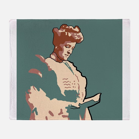 Edith Wharton Throw Blanket