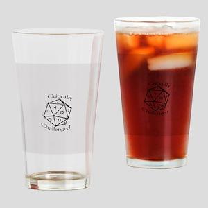 D20 Fail Drinking Glass