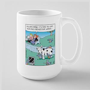 Dog Worm Check Large Mug