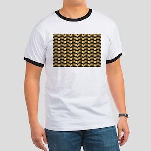 gold gatsby chevron T-Shirt