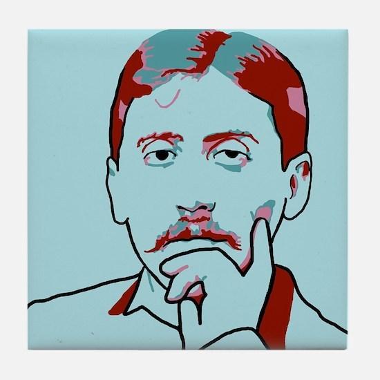 Marcel Proust Tile Coaster