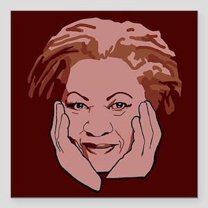 """Toni Morrison Square Car Magnet 3"""" x 3"""""""