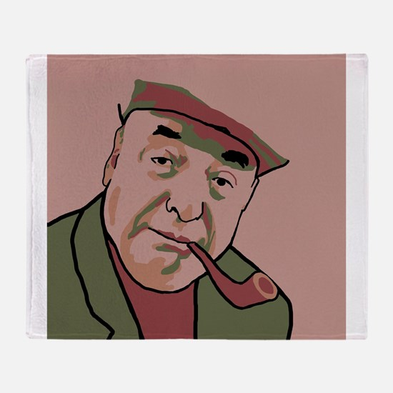 Pablo Neruda Throw Blanket