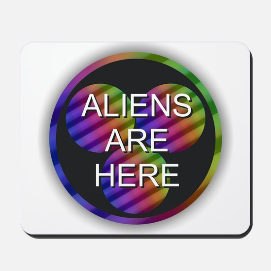 Aliens Are Here Mousepad