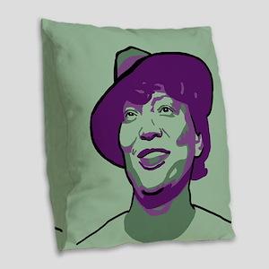Zora Neale Hurston Burlap Throw Pillow