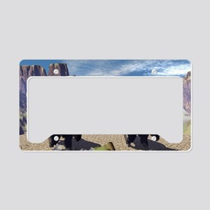 Awesome running bisons License Plate Holder