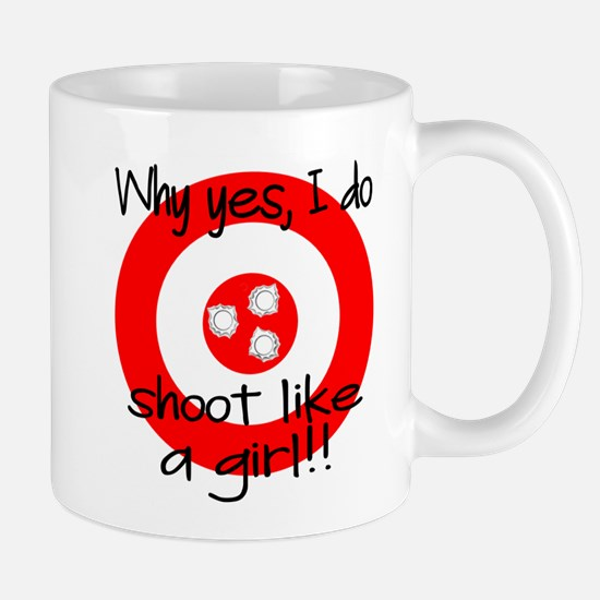 SHOOT LIKE A GIRL Mugs