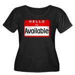 Hello I'm Available Women's Plus Size Scoop Neck D