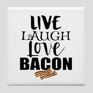 Love Bacon Tile Coaster