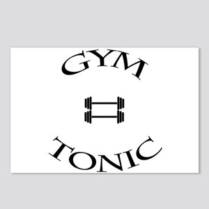 Gym equals tonic Postcards (Package of 8)