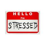 Hello I'm Stressed Rectangle Magnet