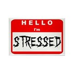 Hello I'm Stressed Rectangle Magnet (10 pack)