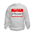Hello I'm Stressed Kids Sweatshirt