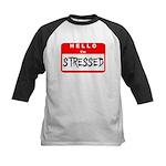 Hello I'm Stressed Kids Baseball Jersey