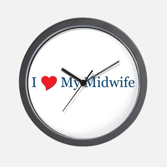 I Love My Midwife Wall Clock